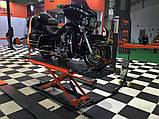 Ножничный электрогидравлический мотоцыклетный подъёмник для подъема, обслуживания и ремонта, мототехники., фото 7