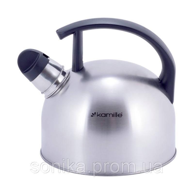 Чайник з нержавіючої сталі зі свистком Kamille 1,5 л KM-1080