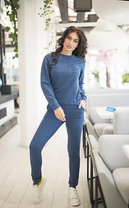 Спортивний жіночий костюм з джемпера і звужених штанів, р. 42-44,46-48,50-52,54-56 код 403А, фото 2