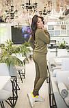 Спортивнй женский костюм из джемпера и зауженных брюк, р.42-44,46-48,50-52,54-56 код 403А, фото 8