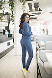 Спортивнй женский костюм из джемпера и зауженных брюк, р.42-44,46-48,50-52,54-56 код 403А, фото 6