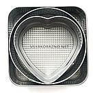 Форма для торта - набор разъемных форм для выпечки (3 шт) Квадрат / Круг / Сердце, фото 4