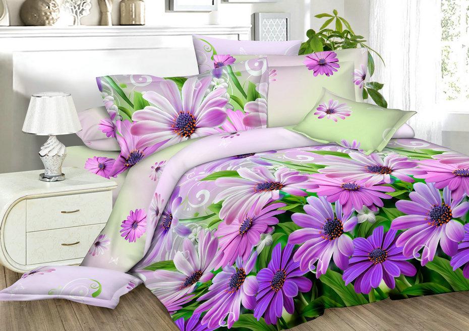 Двуспальный комплект постельного белья евро 200*220 хлопок  (13549) TM KRISPOL Украина