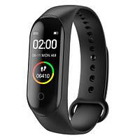 🔝 Водонепроницаемый фитнес браслет шагомер, Smart Watch M4,спортивный, смарт часы, копия MiBand 4 , Годинники і будильники: настільні, наручні