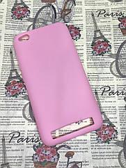 Чехол / бампер / накладка для Xiaomi Redmi 5A цветной силиконовый матовый розовый