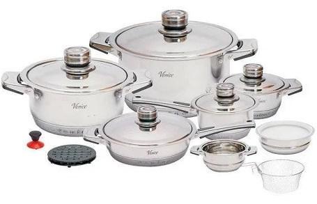 Набор посуды Benson BN-2003 из нержавеющей стали 19 предметов