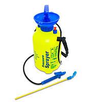 🔝 Опрыскиватель, ОП-5, Pressure Sprayer, для сада и огорода, Желтый 5 л. , Садові обприскувачі