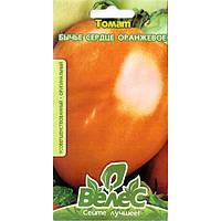 """Насіння томату високорослої, смачного """"Волове серце оранжеве"""" (0,15 г) від ТМ """"Велес"""""""