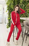 Модный женский спортивный костюм с толстовкой на молнии и штанами, разные цвета р.42-44,46-48 код 405А