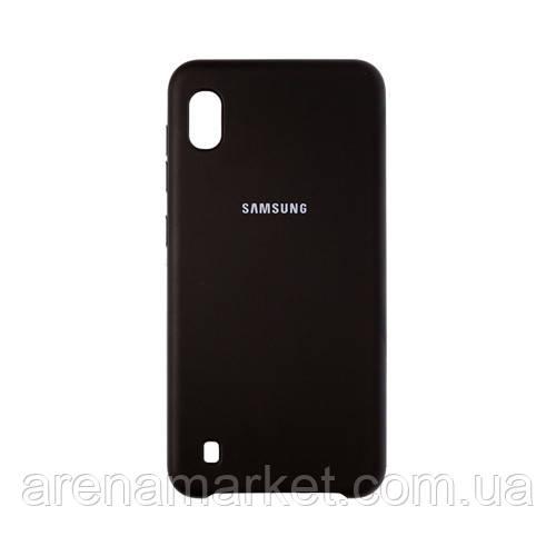 Силіконовий чохол Samsung SILICONE COVER A10 EF-A10 - чорний