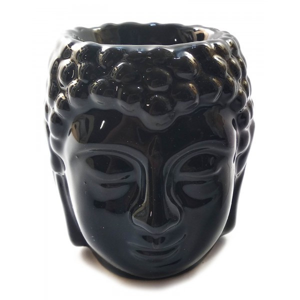 """Аромалампа керамическая черная """"Будда"""" (7х7х8,5 см) ( 32035A)"""