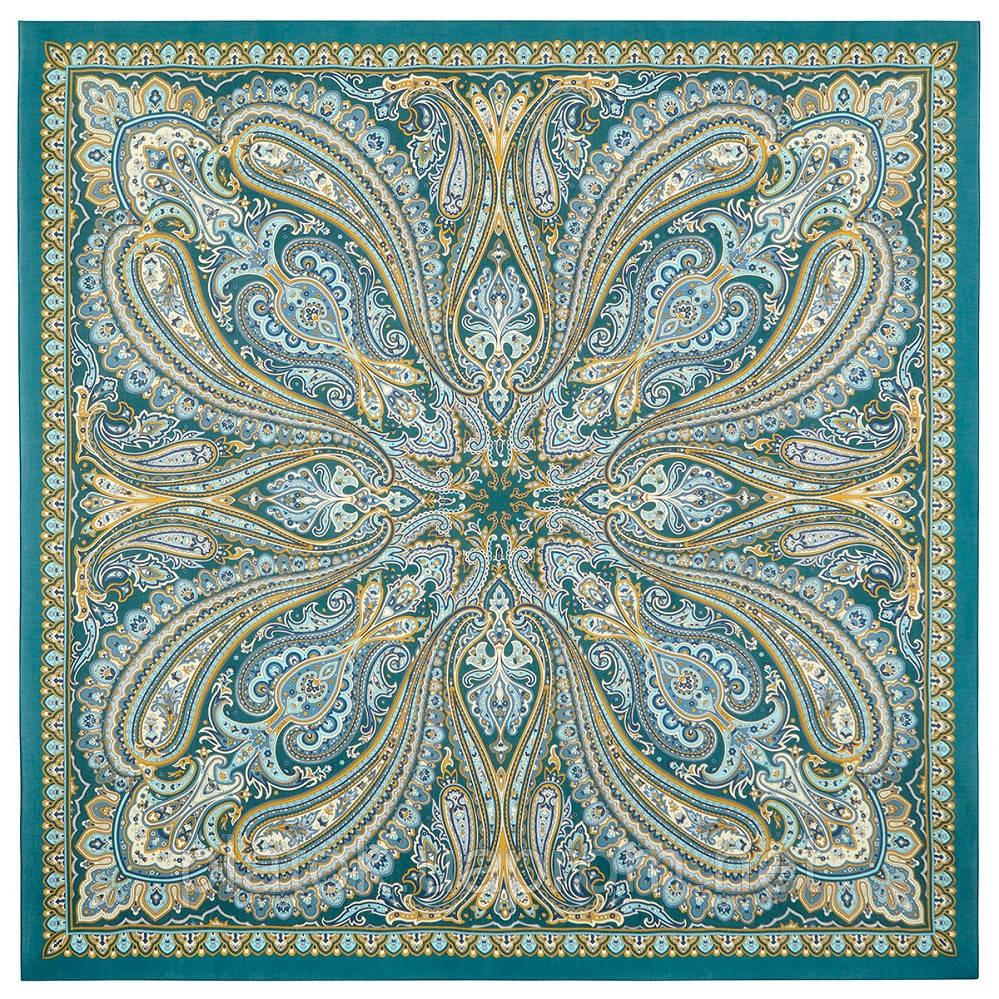 Цветок востока 834-12, платок из вискозы с подрубкой