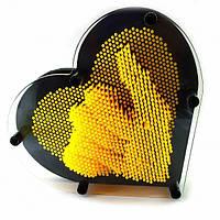 "Пинарт ""Сердце"" желтый (19х17х4 см) ( 29729C)"
