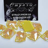 Стразы пришивные SWARO Космик 16*21мм. Crystal Electric Yellow DeLite