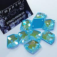 Стразы пришивные SWARO Космик 16*21мм. Crystal Electric Blue DeLite
