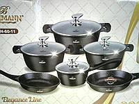 Набор кастрюль Bohmann BH 60-11 Black 11 предметов