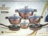 Набор кастрюль Bohmann BH 60-11 Brown 11 предметов