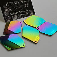 Зеркальные пришивные стразы A4 Rainbow 25*35