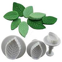 Молд листочек пластиковый 3 штуки. Размеры листочков 4 см, 3 см, 2.5 см. Для лепки и творчества