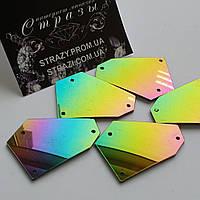 Зеркальные пришивные стразы A6 Rainbow 20*20