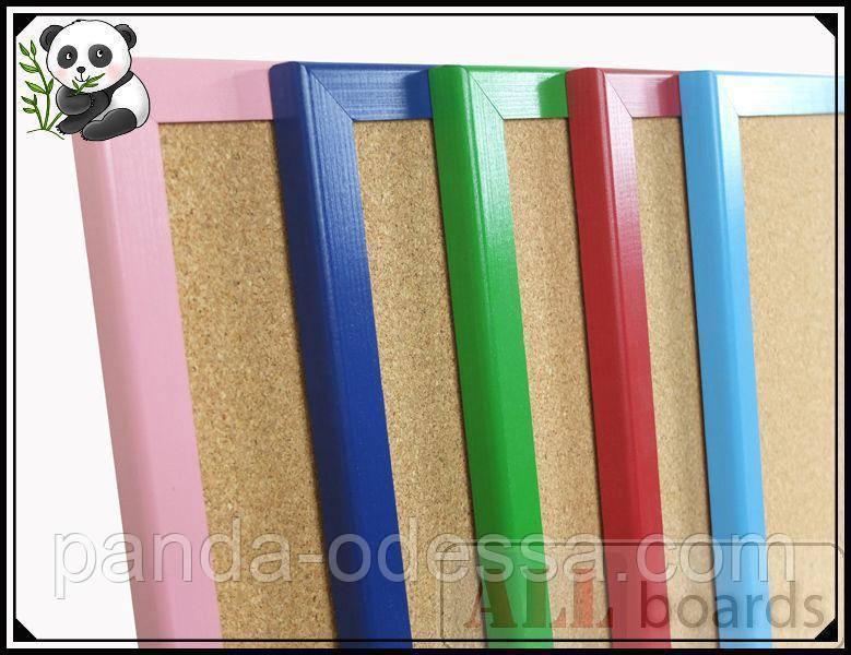 """Пробковая доска 120х90см в голубой деревянной раме TM """"ALL boards"""""""