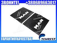 Брызговик 500X600X4 с объемной надписью MAN (TEMPEST)