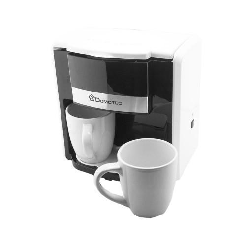 Капельная кофеварка Domotec MS-0706 с 2 чашками, белая