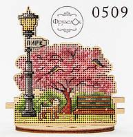 """Набор для вышивання крестиком на деревянной основе ФрузелОк """"Парк"""" 0509, фото 1"""