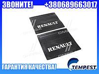 Брызговик 45x40x4 с объемной надписью RENAULT (TEMPEST)