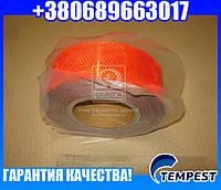 ЛЕНТА-НАКЛЕЙКА СВЕТООТРАЖАЮЩАЯ,РУЛОН 50М*50ММ КРАСНАЯ (TEMPEST)