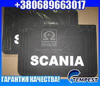 Брызговик 40X60X4 с объемной надписью SCANIA (TEMPEST)