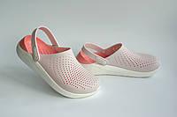 Кроксы женские Сабо CROCS LiteRide Clog Barely Pink/White