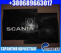 Брызговик 45x40x4 с объемной надписью SCANIA (TEMPEST)