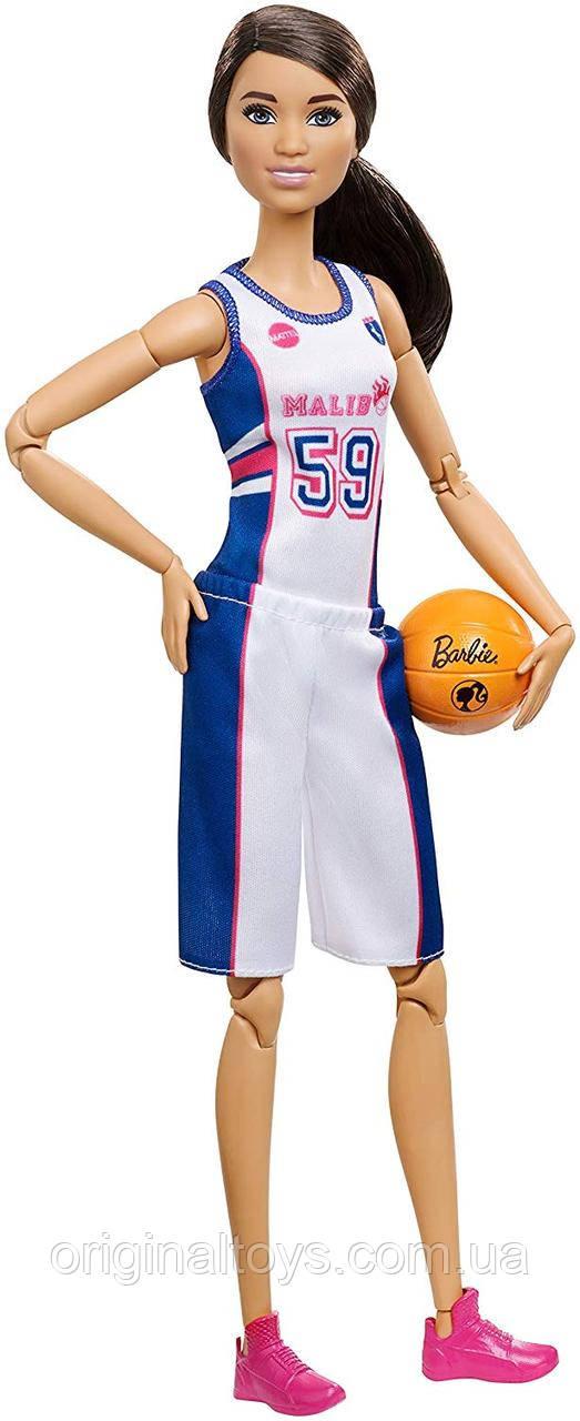 Лялька Barbie Made to Move Барбі Рухайся як я Спортсменка Баскетболістка FXP06