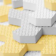 Коврик-пазл Kinderkraft Luno Yellow, 30 элементов, фото 4