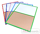 """Доска пробковая / маркерная (магнитная) DUO 90х60см в розовой деревянной раме TM """"ALL boards"""", фото 2"""