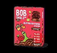 Конфеты натуральные Яблоко-клубника в бельгийском молочном шоколаде Bob Snail 60 гр. 1740467