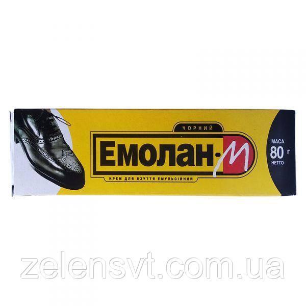 """Крем для взуття чорний """"Емолан-М"""" (80 г), Україна"""