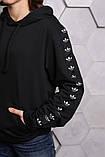 Худи Adidas черный с черным, фото 2
