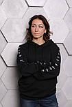 Худи Adidas черный с черным, фото 3