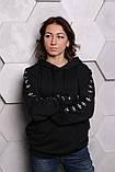 Худи Adidas черный с черным, фото 4
