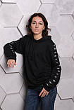 Худи Adidas черный с черным, фото 7