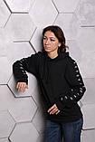 Худи Adidas черный с черным, фото 8
