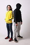 Худи Adidas черный с черным, фото 10