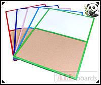 """Доска пробковая / маркерная (магнитная) DUO 90х60см в розовой деревянной раме TM """"ALL boards"""""""