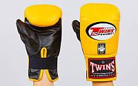 Снарядные перчатки кожаные Twins (M-XL) Желтый-черный M PZ-TBGL-1F_1