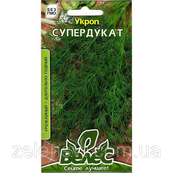 """Насіння кропу врожайного """"Супердукат"""" (4 г) від ТМ """"Велес"""""""