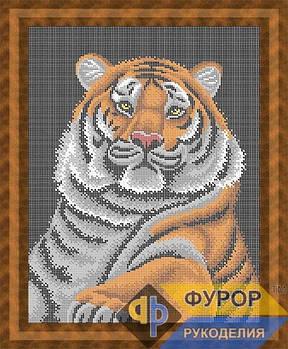 Схема для вышивки бисером картины Тигр Шерхан (ЖБп3-009)