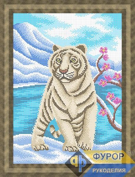 Схема для вишивки бісером картини Тигр у горах (ЖБп3-147)