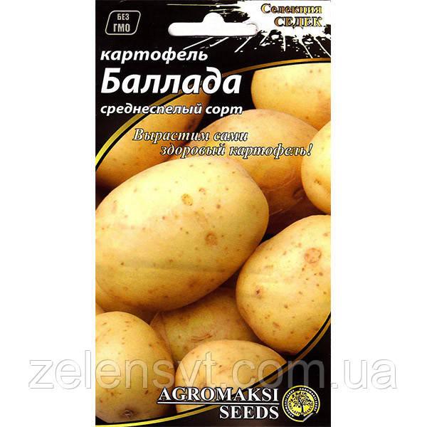 """Насіння картоплі середньостиглої """"Балада"""" (0,01 г) від Agromaksi seeds"""